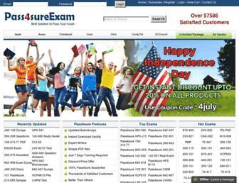 pass4sureexam.com screenshot