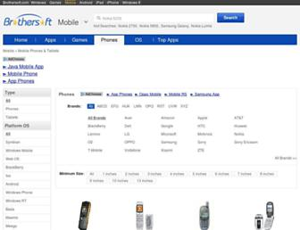 phone.mobile.brothersoft.com screenshot