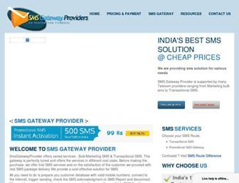smsgatewayproviders.com screenshot
