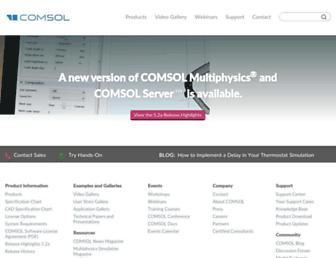 comsol.com screenshot