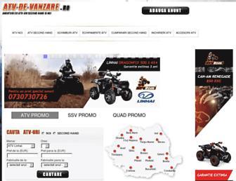 Main page screenshot of atv-de-vanzare.ro