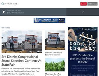 iowapublicradio.org screenshot