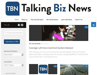 Thumbshot of Talkingbiznews.com
