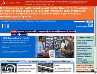 Main page screenshot of connectingforhealth.nhs.uk