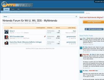 Main page screenshot of mynintendo.de