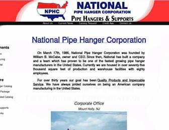 nationalpipehanger.com screenshot