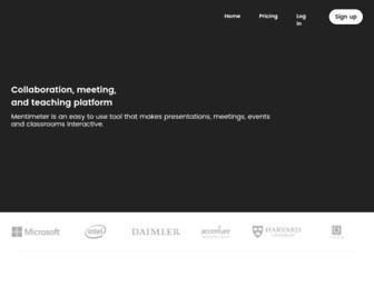 mentimeter.com screenshot