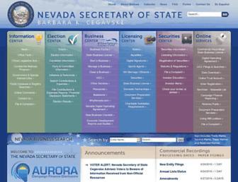 nvsos.gov screenshot