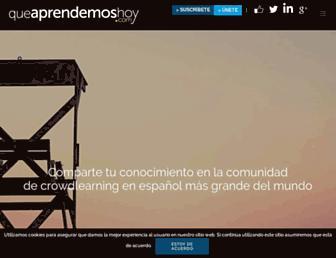 queaprendemoshoy.com screenshot