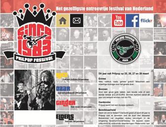 Main page screenshot of prilpop.nl