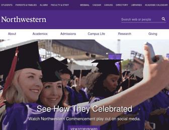 Main page screenshot of northwestern.edu