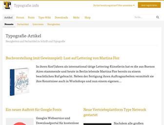 typografie.info screenshot