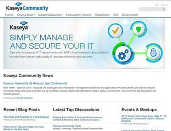 community.kaseya.com screenshot