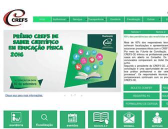 cref5.org.br screenshot