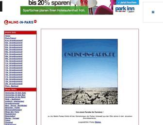 online-in-paris.de screenshot