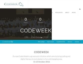 codeweek.eu screenshot