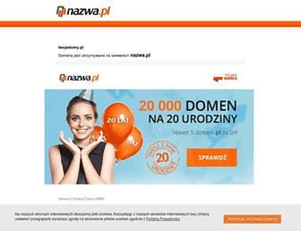 Main page screenshot of twojedomy.pl