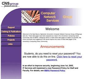 its.nmhu.edu screenshot
