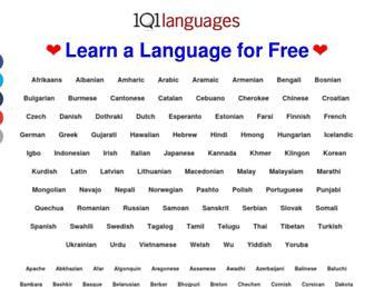 Main page screenshot of 101languages.net