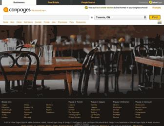 Main page screenshot of canpages.ca