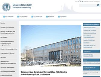 verwaltung.uni-koeln.de screenshot