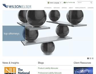 wilsonelser.com screenshot