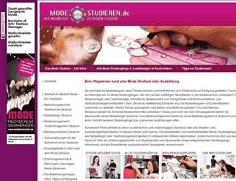 mode-studieren.de screenshot