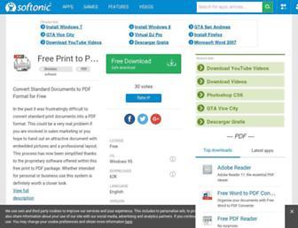 free-print-to-pdf.en.softonic.com screenshot