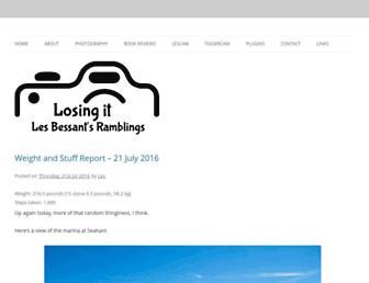 Main page screenshot of losingit.me.uk