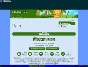 bloons.fandom.com screenshot