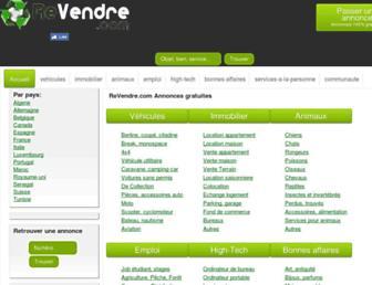 revendre.com screenshot