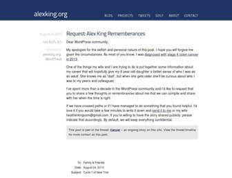 Main page screenshot of alexking.org
