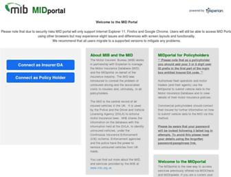 midportal.org.uk screenshot