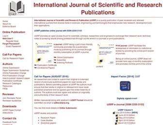 ijsrp.org screenshot