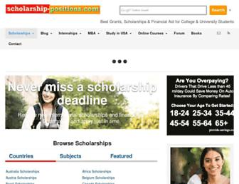 Thumbshot of Scholarship-positions.com