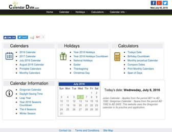 calendardate.com screenshot