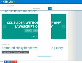 htmllion.com screenshot