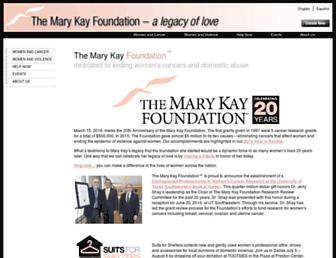 marykayfoundation.org screenshot