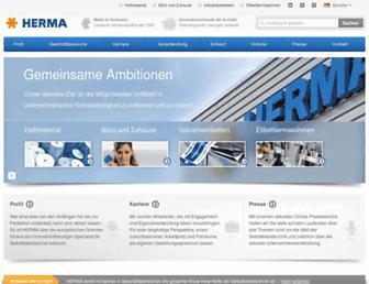 herma.com screenshot