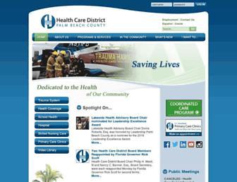 Main page screenshot of hcdpbc.org
