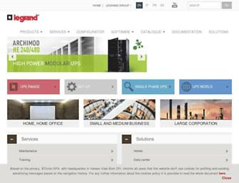ups.legrand.com screenshot