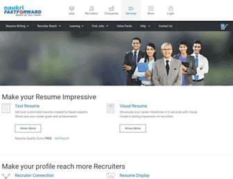 resume.naukri.com screenshot