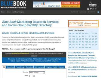 bluebook.insightsassociation.org screenshot