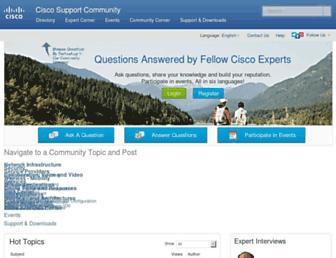 supportforums.cisco.com screenshot