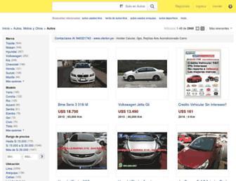 autos.mercadolibre.com.pe screenshot