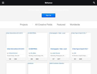 behance.net screenshot