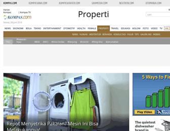 properti.kompas.com screenshot