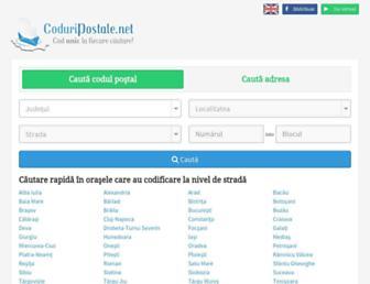 coduripostale.net screenshot