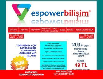 espowerbilisim.com screenshot