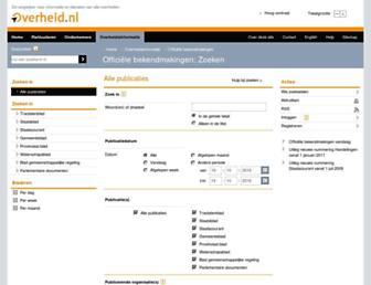Main page screenshot of zoek.officielebekendmakingen.nl